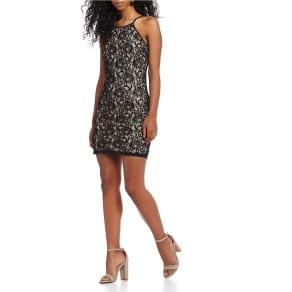 Midnight Doll Sequin Lace Sheath Dress