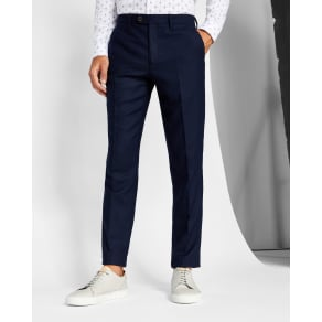 1e29f05a55c44 Ted Baker Textured Wool Pants Navy
