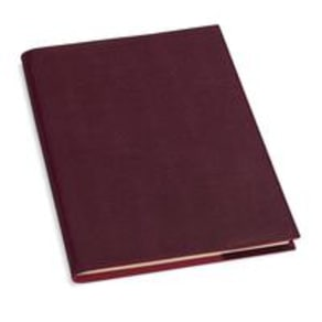 Refillable Journal Burgundy Saffiano A4 Lined - Lined Pages