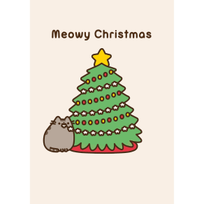 Hype Pusheen Christmas Tree Card