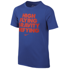 Boys Nike Graphic Dri-Fit S/S T-Shirt - Grade School - Game Royal/Max Orange