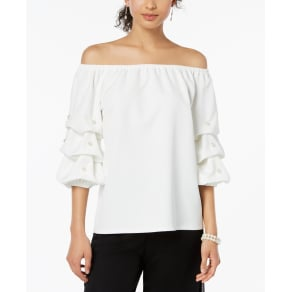 Msk Embellished Off-The-Shoulder Top