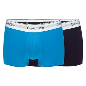 Calvin Klein Pack of Two Blue Cotton Stretch Trunks