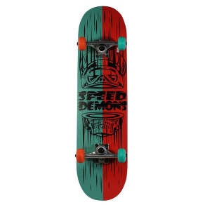 "Speed Demons 31 Skateboard ""Split Speed Demon"" - Blue/Red, Multi-Colored"