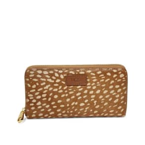 Ugg Honey Zip Wallet Idyllwild Womens Bags Chestnut