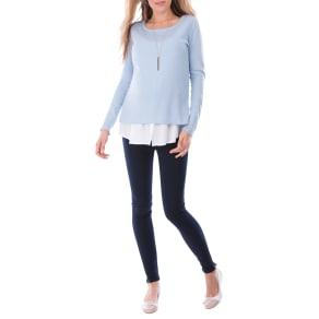 Seraphine Trisha Maternity Nursing Shirt Jumper, Blue/White