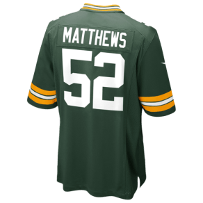 Boys Clay Matthews Nike Nfl Team Color Game Day Jersey - Grade School - Green
