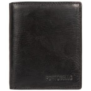 Portobello W11 Black 'Raol' Natural Leather Wallet