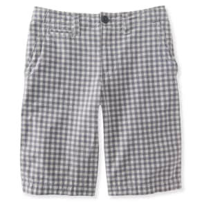 Kids' Gingham Flat-Front Shorts