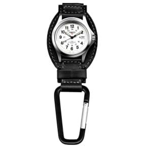 Dakota Watch Company Black Leather Field Clip Watch