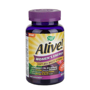 Nature's Way Alive! Womens Energy Soft Jells 60 Tablets - 60tablets, Orange