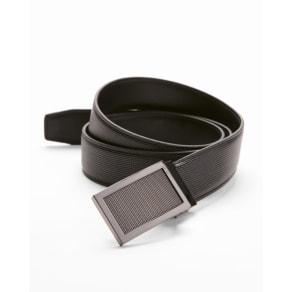 Express Mens Textured Framed Plaque Belt