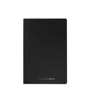 Reiss A'laise Notebook    - Leather Notebook  in Black
