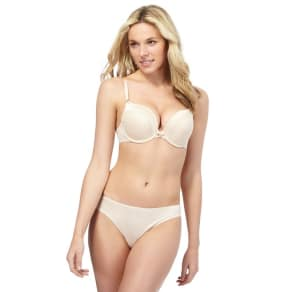 Ultimate Natural Jacquard 'Perfect Fit' Underwired Push-Up Bra