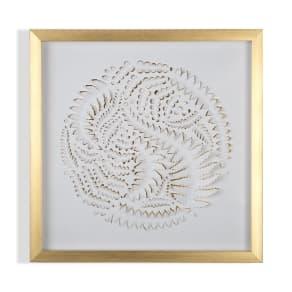 Graham & Brown Golden  Leaves Framed Wall Art, Gold