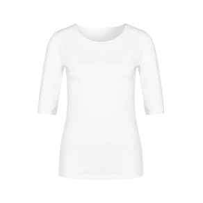 Hugo Boss Cotton Jersey Blouse Emmsi L White
