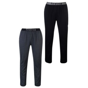 Firetrap 2 Pack Long Pants Mens