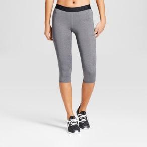 Women's Compression Knee Tight Shorts - C9 Champion Charcoal Heather Gray S, Dark Gray