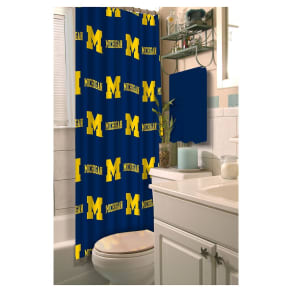 Ncaamichigan Wolverines Shower Curtain, Michigan Wolverines