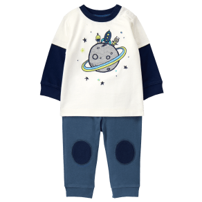 Boy's Saturn Set by Gymboree - Size 12-18m - White - White
