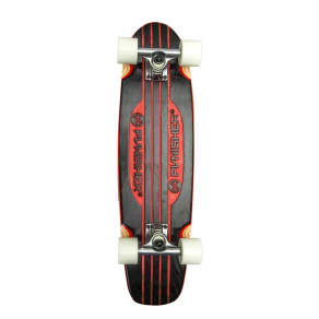 Punisher Skateboards Engraved Longboard Skateboard - Red (28)