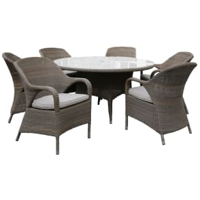 4 Seasons Outdoor Sussex 6 Seater Dining Set