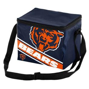 Nfl Big Logo Stripe 6 Pack Cooler-Chicago Bears, Chicago Bears