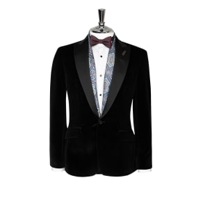 """Christopher Slim Fit Italian Black Velvet Evening Jacket"""