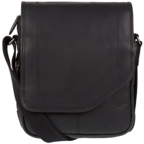 Cultured London Black 'Trip' Small Leather Despatch Bag