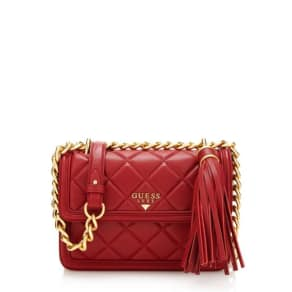 Guess Sandy Quilted-Look Crossbody Bag