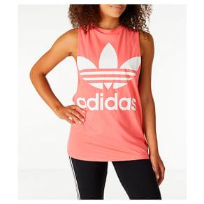 Adidas Women's Originals Trefoil Muscle Tank, Pink