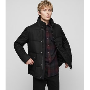 Reiss Andrea - Quilted Jacket in Charcoal