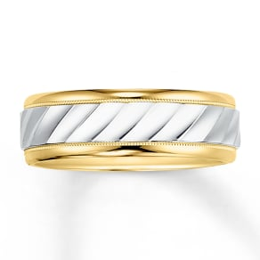 Wedding Band 14k Two-Tone Gold 7mm