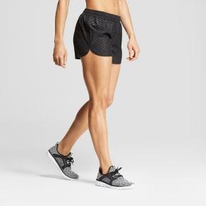 Women's Run Shorts - C9 Champion Black Emboss Xxl