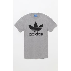 Adidas Mens Trefoil Heather Grey T-Shirt