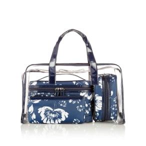 M&S Collection 4 Piece Clear Floral Bag Set