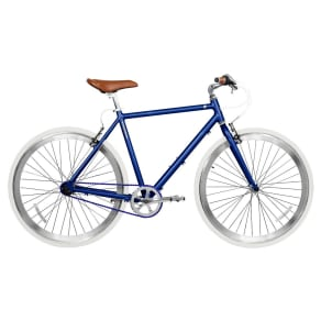 Gama Bikes Speed Cat 3-Speed 700c Urban Hybrid Commuter - Deep Blue