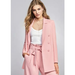 River Island Womens Pink Double Breasted Style Blazer