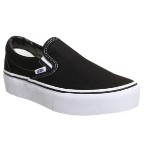 Vans Classic Slip On Platforms, Black