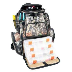 Wild River Tackle Tek Nomad Lighted Mossy Oak Backpack, Brown