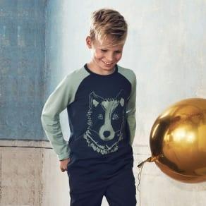 Wolf Print Kidstop - Green Quality Kids Boys Girls