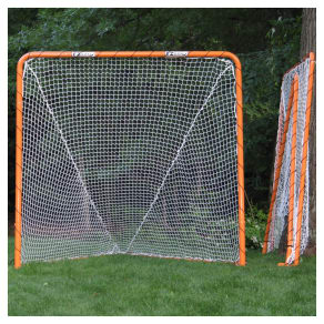 Ez Goal Official Regulation Folding Metal Lacrosse Goal - 6'x6', Orange