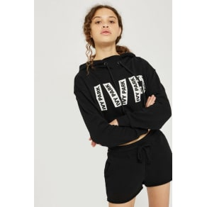 Womens Logo Printed Cropped Hoodie by Ivy Park