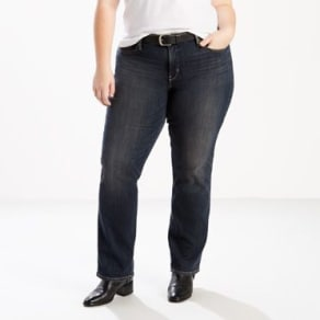Levis-314 Shaping Straight Jeans (Plus)-Chrome Blue