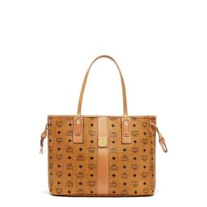 Mcm Medium Liz Reversible Shopper - Brown