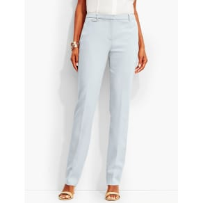Talbots Women's Luxe Italian Double Weave Subtle Bootcut Trouser Newport Collection