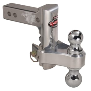 Trimax Trz6al-Rp Razor 6in Aluminum Adjust Hitch-Dual Ball