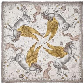 Ladies Pegasus Scarf Gold 140x140