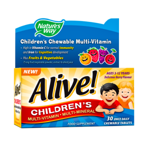 Nature's Way Alive! Children's Chewable Multi-Vitamin 30 Tablets - 30tablets