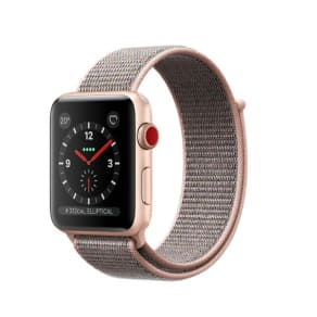 Apple Watch Series 3 GPS + Cellular 42mm Aluminium Case Gold with Pink Sand Sport Loop